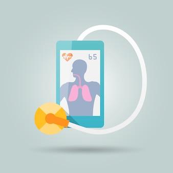 Concepto de medicina móvil