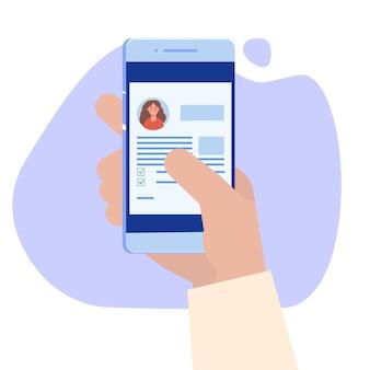 Concepto médico en línea de registro médico