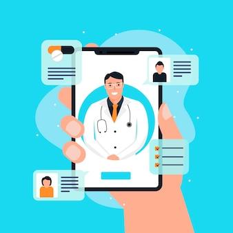 Concepto médico en línea