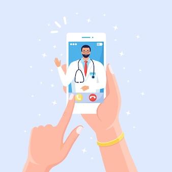 Concepto de médico en línea