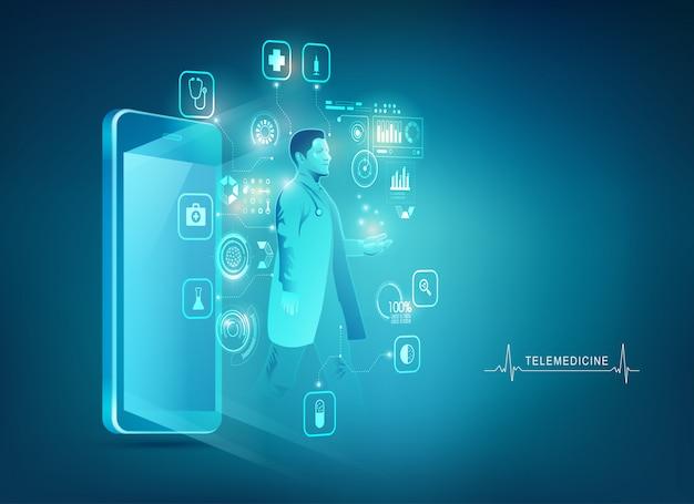 Concepto de médico móvil