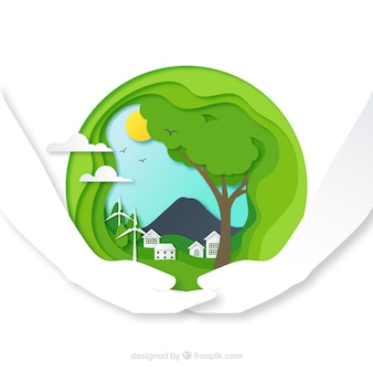 Concepto de medio ambiente y ecosistema