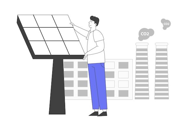 Concepto de medio ambiente de energía verde