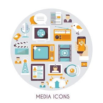 Concepto de medios masivos