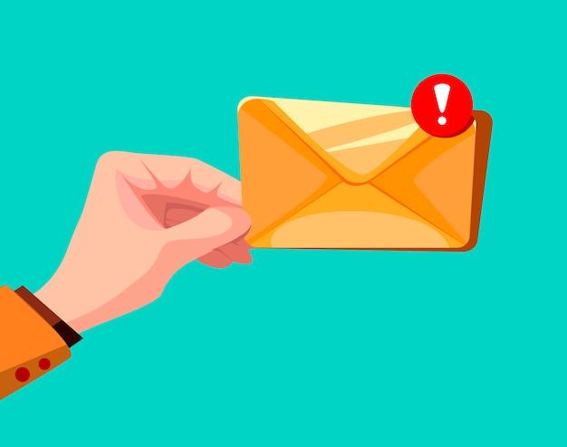 Concepto de mensaje de correo electrónico.