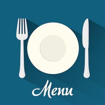 Concepto de menú con el diseño del icono de la comida, gráfico de vector ilustración 10 eps.