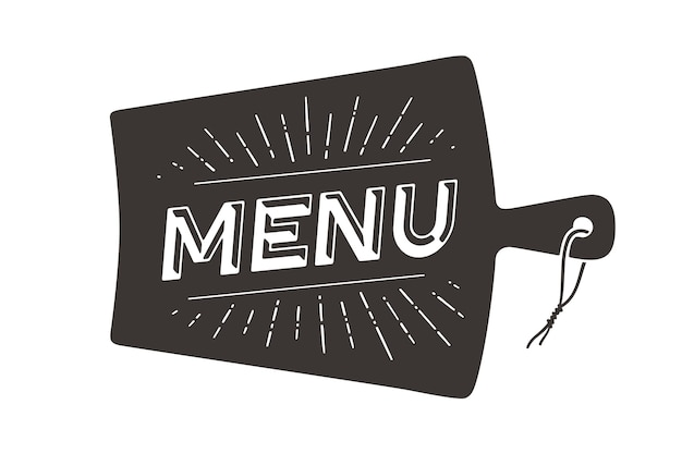 Concepto de menú de restaurante
