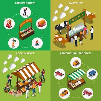 Concepto de mercado agrícola
