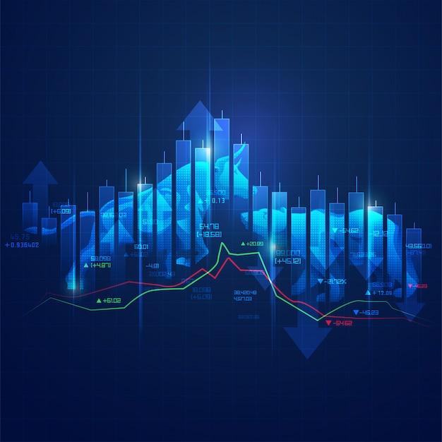 Concepto del mercado de valores