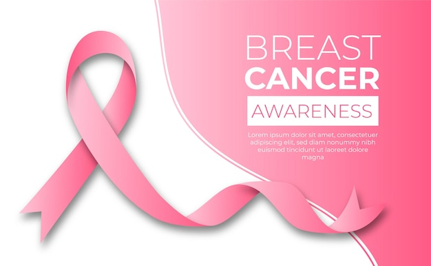 Concepto del mes de concientización sobre el cáncer de mama