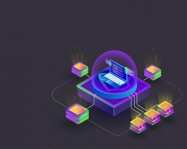 Concepto de minería criptográfica.