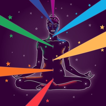 Concepto místico chakras