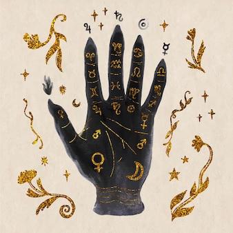 Concepto místico quiromancia