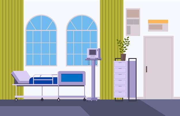 Concepto de mobiliario interior de oficina de médico de cirugía de medicina.