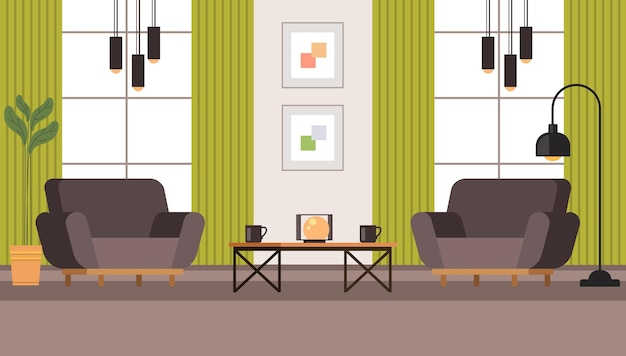 Concepto de mobiliario interior de sala de estar.