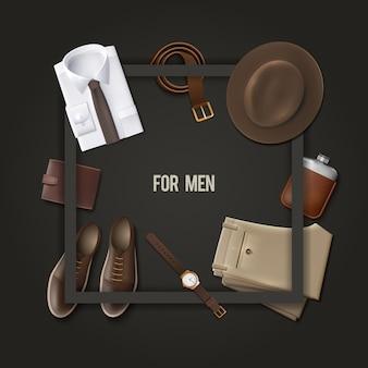 Concepto de moda de ropa de hombre