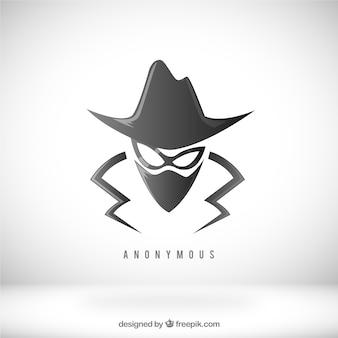 Concepto moderno de anonimato con diseño plano