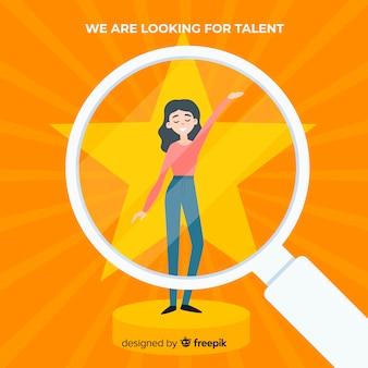 Concepto moderno de búsqueda de talento