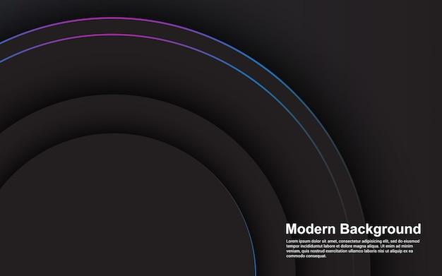 Concepto moderno de color negro de fondo abstracto