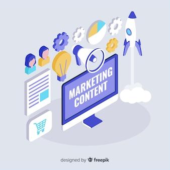 Concepto moderno de contenido de marketing