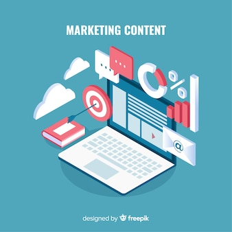 Concepto moderno de contenido de marketing