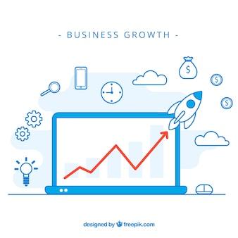 Concepto moderno de crecimiento de negocios