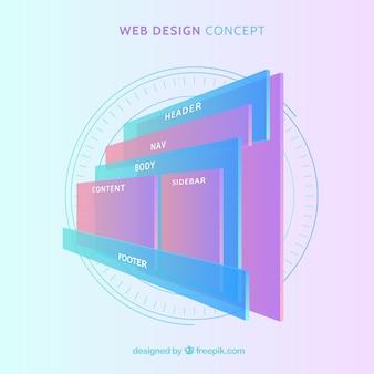 Concepto moderno de diseño web