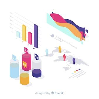 Concepto moderno de pasos infográficos