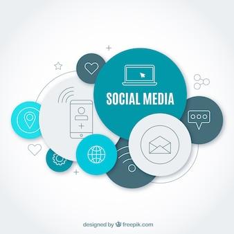 Concepto moderno de redes sociales