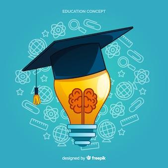 Concepto moderno de educación dibujado a mano