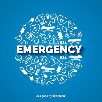 Concepto moderno de emergencia con diseño plano