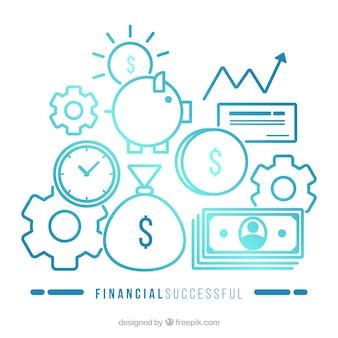 Concepto moderno de éxito financiero