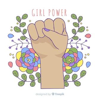 Concepto moderno de feminismo dibujado a mano