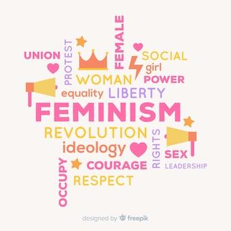Concepto moderno de feminismo con diseño plano