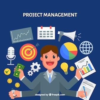 Concepto moderno de gestión de proyectos