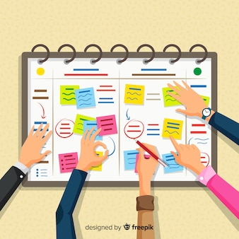 Concepto moderno de horario de planificación