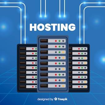 Concepto moderno de hosting