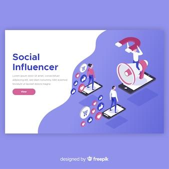 Concepto moderno de influencer social