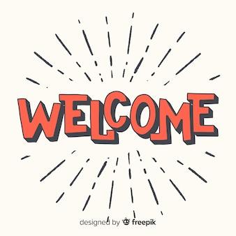 Concepto moderno de lettering de welcome