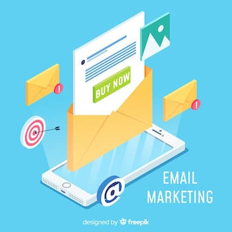 Concepto moderno de marketing por email