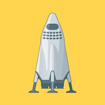 Concepto moderno de nave espacial de metal