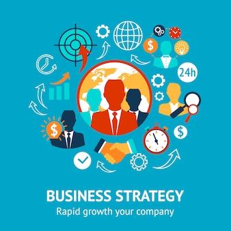 Concepto moderno de negocio y gestión.