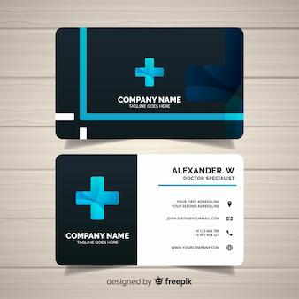 Concepto moderno y profesional de tarjeta de visita médica