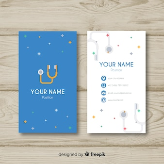 Concepto moderno y profesional de tarjeta de visita para médico o hospital