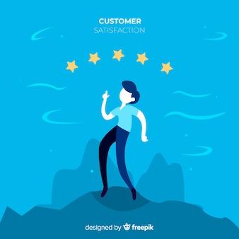 Concepto moderno de satisfacción del cliente