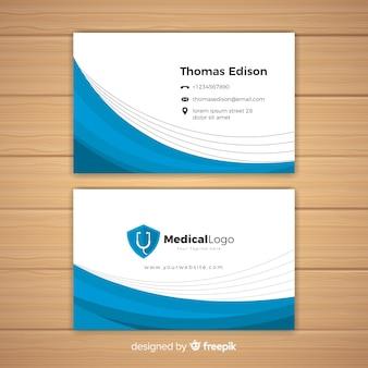 Concepto moderno de tarjeta de visita para médico o hospital