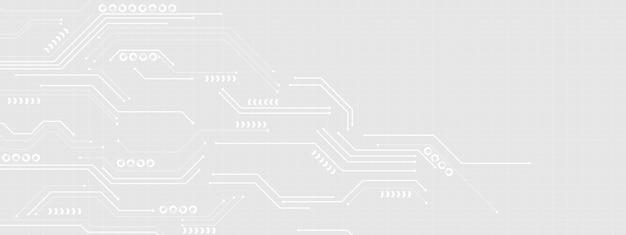 Concepto moderno de la tecnología geométrica del fondo abstracto de la tecnología blanca y gris de la tecnología.