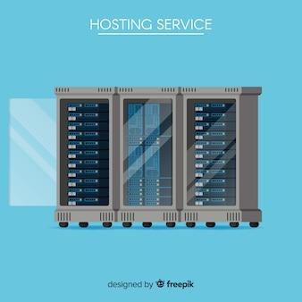 Concepto moderno de web hosting