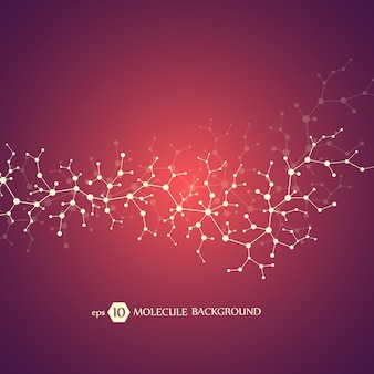 Concepto de moléculas de neuronas y sistema nervioso.