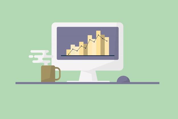 Concepto de monitoreo de mercado